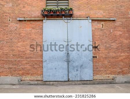 Warehouse Door - stock photo
