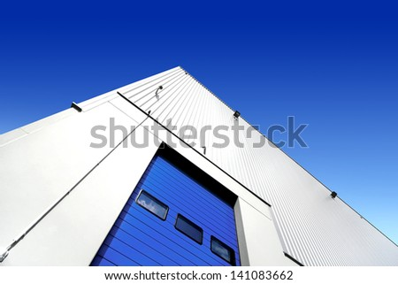 Warehouse entrance - stock photo