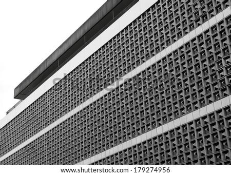 Warehouse facade - stock photo