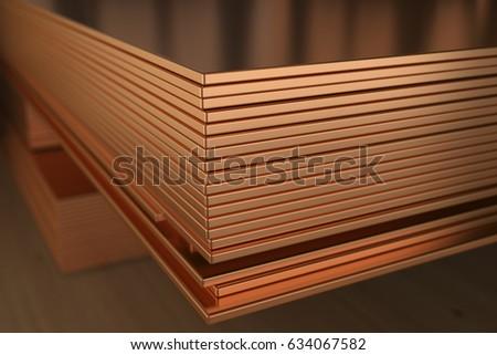 Warehouse Copper Sheets Copper Wire 3 D Stock Illustration 634067582 ...