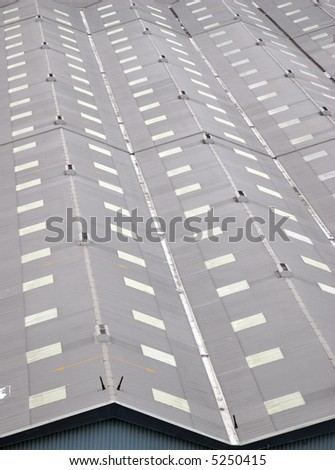 warehouse rooftops - stock photo