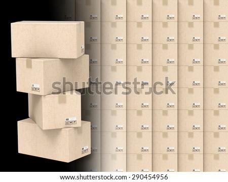 warehouse storage concept - stock photo