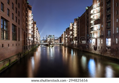 Warehouses in Hamburg Speicherstadt - stock photo