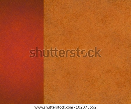 warm autumn background with orange and red colors, background is colorful with vintage grunge background texture design layout for web template brochure for thanksgiving, fall background or halloween - stock photo