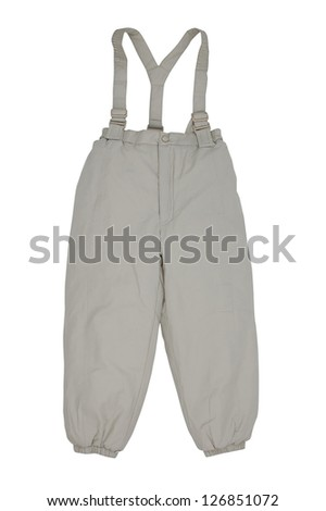 warm baby pants - stock photo