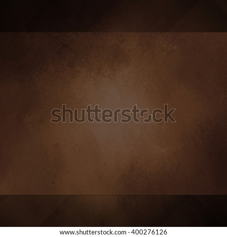 warm brown coffee color background panel on darker layer of brown and black - stock photo