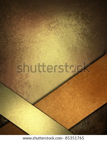 warm brown, copper, and gold background with rich, deep earth colors, soft lighting, dark edges, vintage grunge texture, shiny ribbons angled to frame bottom border, copy space for text, or title - stock photo
