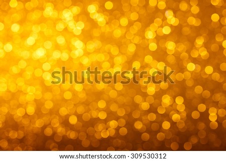 Warm glowing bright golden lights bokeh background - stock photo