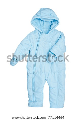Warm suit for the newborn - stock photo