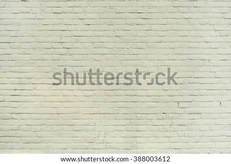 Warm white clean plain white brick wall texture background.  - stock photo