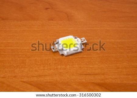 Warm White Power LED, Electronic Component . - stock photo