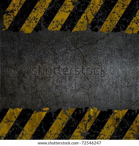 Warning background texture - stock photo