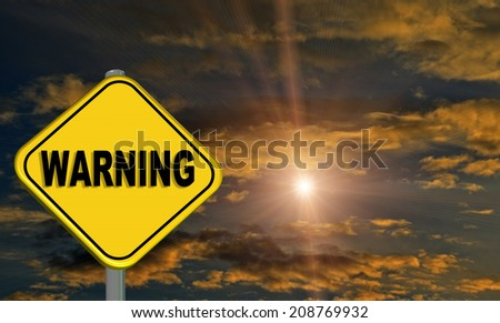 warning clouds - light - stock photo