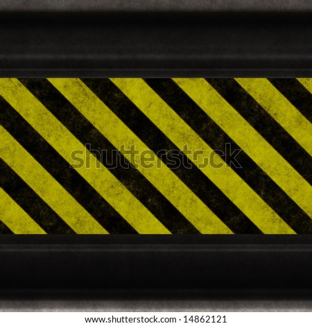 warning - hazard stripes
