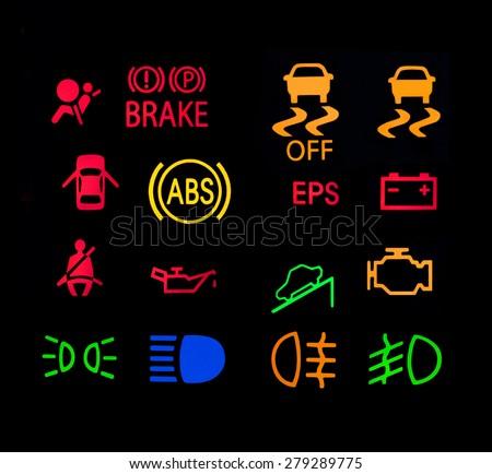 Warning Lights Car Stock Photo Royalty Free 279289775