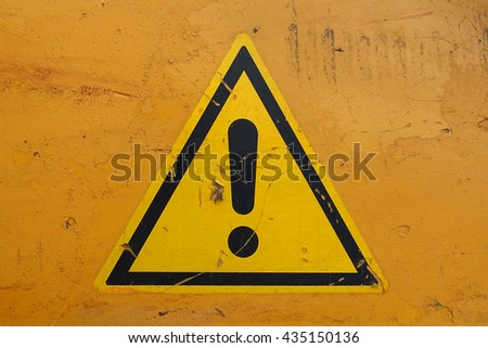 warning sign attention - stock photo