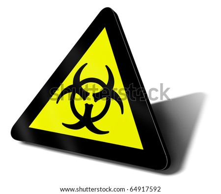 warning sign bio hazard danger illustration - stock photo
