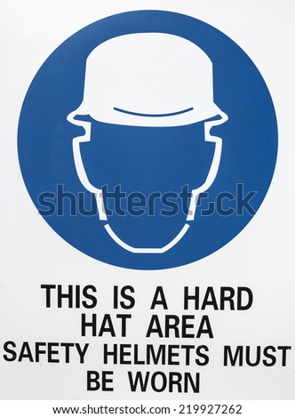 Warning sign for a construction site - stock photo