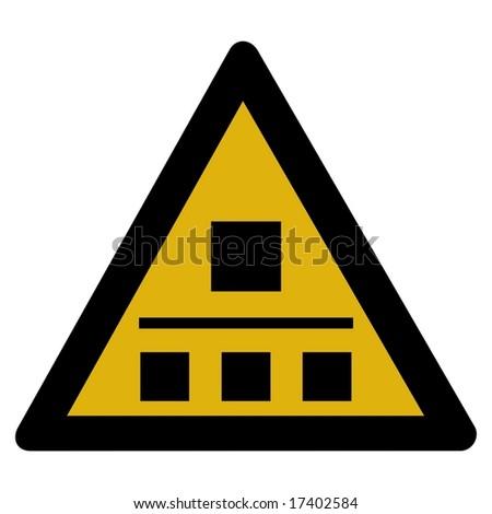 Warning sign - network - stock photo