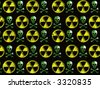 Warning sign : nuclear danger - stock photo