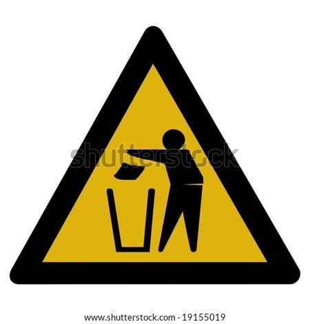 Warning sign - recycle - stock photo