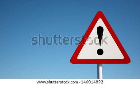 Warning Sign with Clipping Path