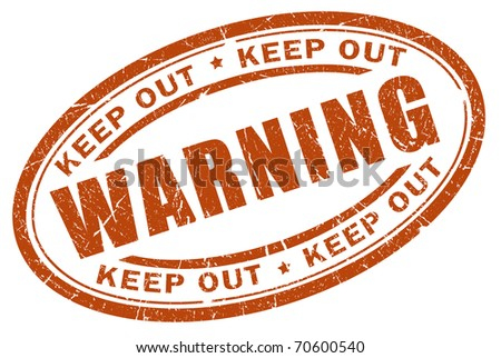 Warning stamp - stock photo