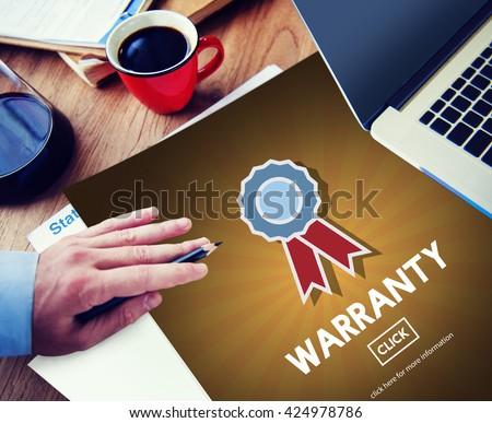 Warranty Quality Control Guarantee Satisfaction Concept - stock photo