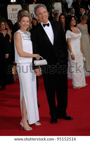 WARREN BEATTY & wife ANNETTE BENING at the 64th Annual Golden Globe Awards at the Beverly Hilton Hotel. January 15, 2007 Beverly Hills, CA Picture: Paul Smith / Featureflash
