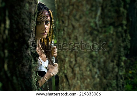 Warrior assassin - stock photo