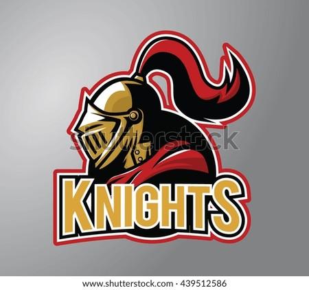 Warrior Knights design vector illustration - stock photo