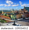 Warsaw castle square - stock photo