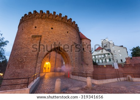 Warsaw in Poland - stock photo
