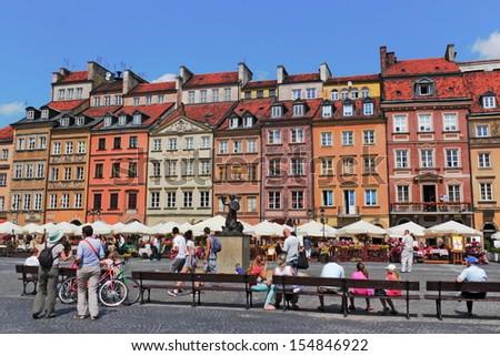 Warsaw Old Market - stock photo
