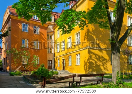 Warsaw old town - stock photo