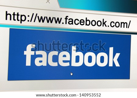WARSAW, POLAND - MAY 22: Facebook has over 10 million Polish users. May 22, 2013 in Warsaw, Poland.