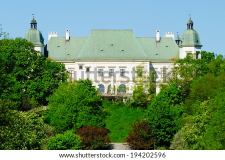 WARSAW, POLAND - MAY 5: Ujazdow Castle on May 5, 2014 in Warsaw, Poland. The Ujazdow Castle was built in 17th century on the order of King of Poland Sigismund III Vasa.