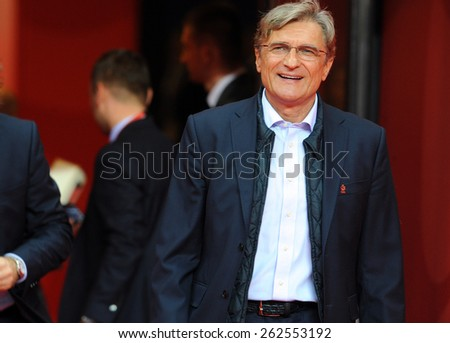WARSAW, POLAND - OCTOBER 14, 2014: EURO 201 Football Cup Qualifiers Scotland vs Scotland