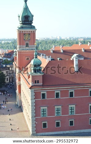 Warsaw Royal Castle in Old Town Square - stock photo