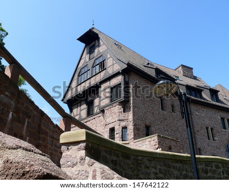wartburg near eisenach - stock photo