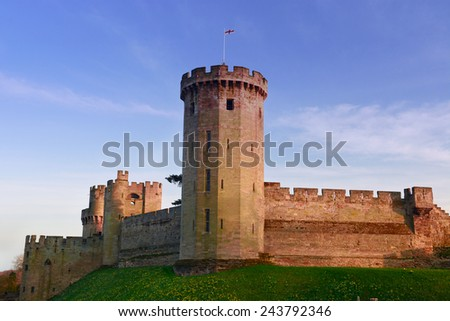 Warwick castle - stock photo