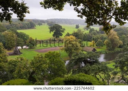 Warwickshire England Medieval Countryside - stock photo