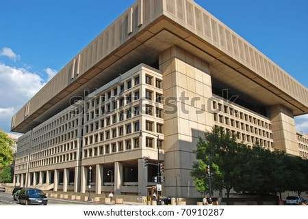 WASH DC - CIRCA JULY 2009: FBI building circa July 2009 in Wash DC, USA. This building was erected in 1908