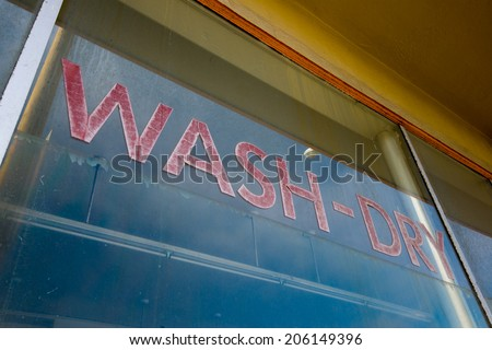 Wash-Dry sign - stock photo