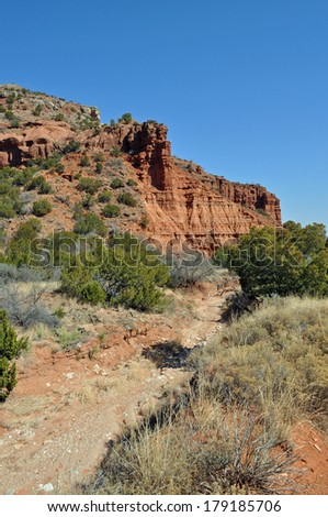 Wash in Caprock Canyons State Park, Texas - stock photo