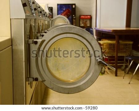 washer doors - stock photo