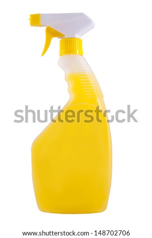 Washing Bottles, detergent Cleaners on a white background.