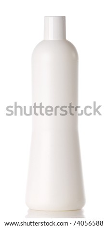 Washing liquid bottle isolated over white background
