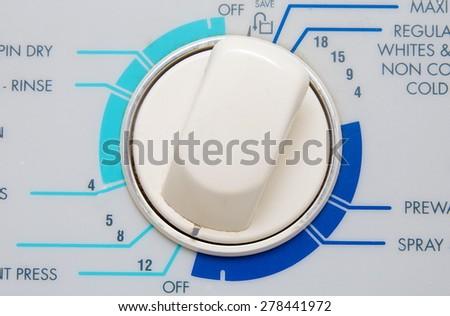 washing machine control closeup - stock photo