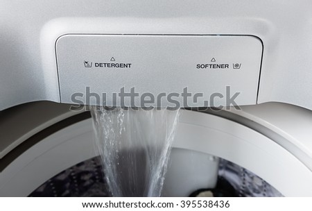 washing machine starting to for washing clothes - stock photo